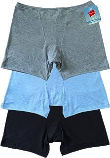 Hanes 3-Pack Women's Comfort Soft Boxer Briefs Lounge Shorts, Women's Underwear Casual Boxer Shorts