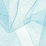 Falk Fabrics LLC CG-839 Nylon Net Light Blue Fabric Stoff,