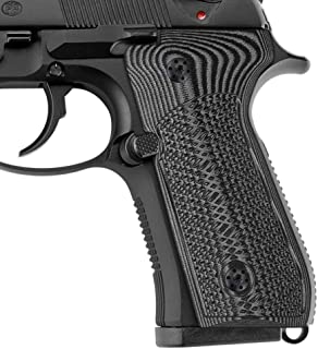 Cool Hand G10 Grips for Beretta 92/96 Full Size, 92fs, m9, 92a1, 96a1, 92 INOX, Tactical Slant Texture, Screws Included
