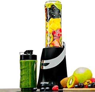 Geepas 350W Personal Blender Smoothie Milkshake Maker - Mini Electric Travel Blender for Protein Shakes with 2 Easy to Cle...