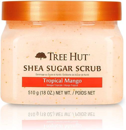 Tree Hut Shea Sugar Scrub Tropical Mango, 18oz, Ultra Hydrating and Exfoliating Scrub for Nourishing Essential Body Care