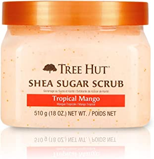Tree Hut Shea Sugar Scrub Tropical Mango, 18oz, Ultra Hydrating and Exfoliating Scrub for..