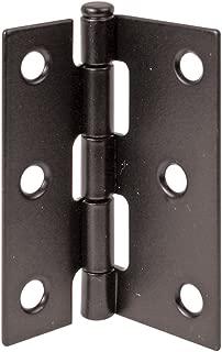 Prime-Line Products K 5039 Screen Door Hinge Steel, Black,(Pack of 2)