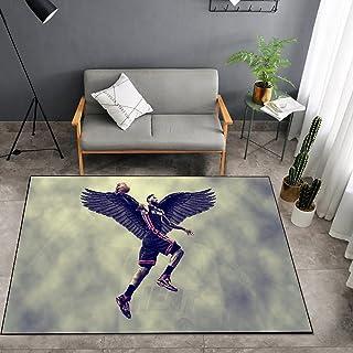 Tritow USA NBA Basketball Tapis NBA Fly Dream Salon Tapis antidérapant Facile à Nettoyer Tapis de Zone d'impression 3D Tap...
