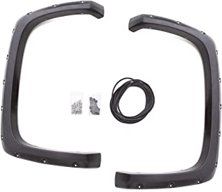 Lund RX106TB Elite Series Black Rivet Style Textured Rear Fender Flare - 2 Piece