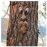 L.TSN Cara de Fantasma de Corteza de Pascua, decoración de árbol de Pascua, decoración de árbol de jardín al Aire Libre, los órganos de los Cinco sentidos Accesorios creativos para Fiestas de Fest