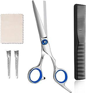 Hair Cutting Scissors Hair Shears - 6.5 Inch Steel Series Professional Salon Barber Haircut Scissors, Including Carbon Hair Comb, Hairdressing Razor Shears for Men Women Adults Kids Babies