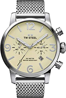 TW Steel Casual Watch, for Men, Analog, Stainless Steel, MB3