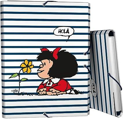 23 x 10 cm Modelo Flores Mafalda 37540722 Colecci/ón Mafalda Estuche Escolar Plano