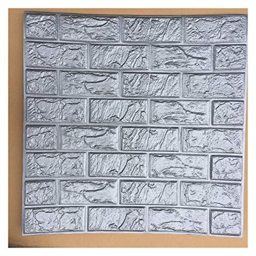 YHDZ Wandaufkleber 3D Brick-Wand-Aufkleber Wallpaper Dekorative Schaum wasserdichte Wand Tuch Tapete Haus Dekoration (Color : Gray, Size : 60 X 15 X 0.85cm)