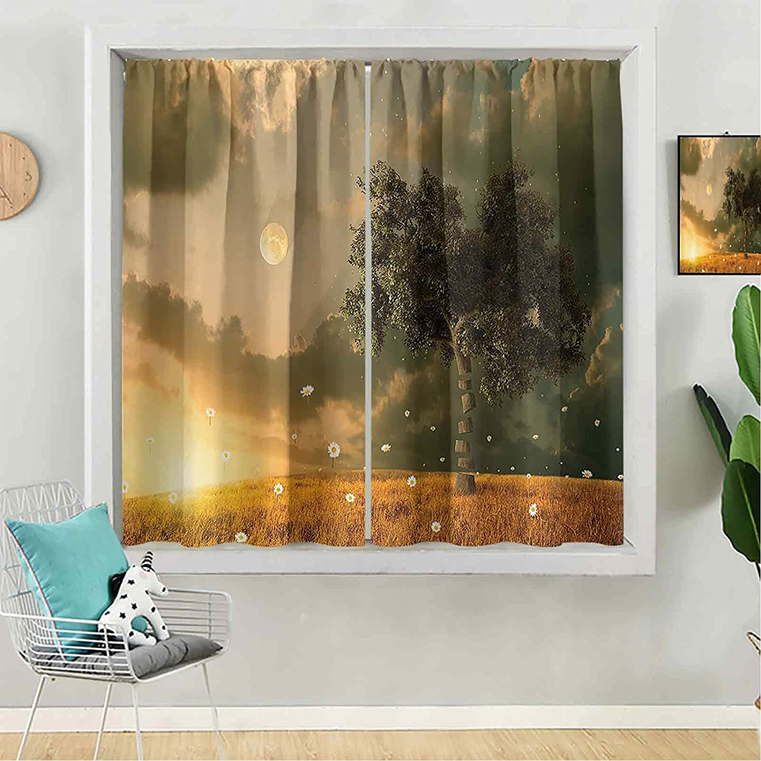 Blackout Curtain 72 inches Ranking TOP9 Long for Panel Window Opening large release sale B Kids