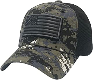 The Hat Jungle USA American Flag Patch Tactical Hat Mesh Back Adjustable Baseball Cap