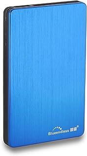 蓝硕 320GB 外付けHDD USB3.0 軽量 コンパクト 薄い アルミ合金 外付け ハードディスク に適用 PC/Laptop/Macbook/Chromebook/ PS4/XBox/テレビ録画/スマートテレビ (320GB, ブルー)
