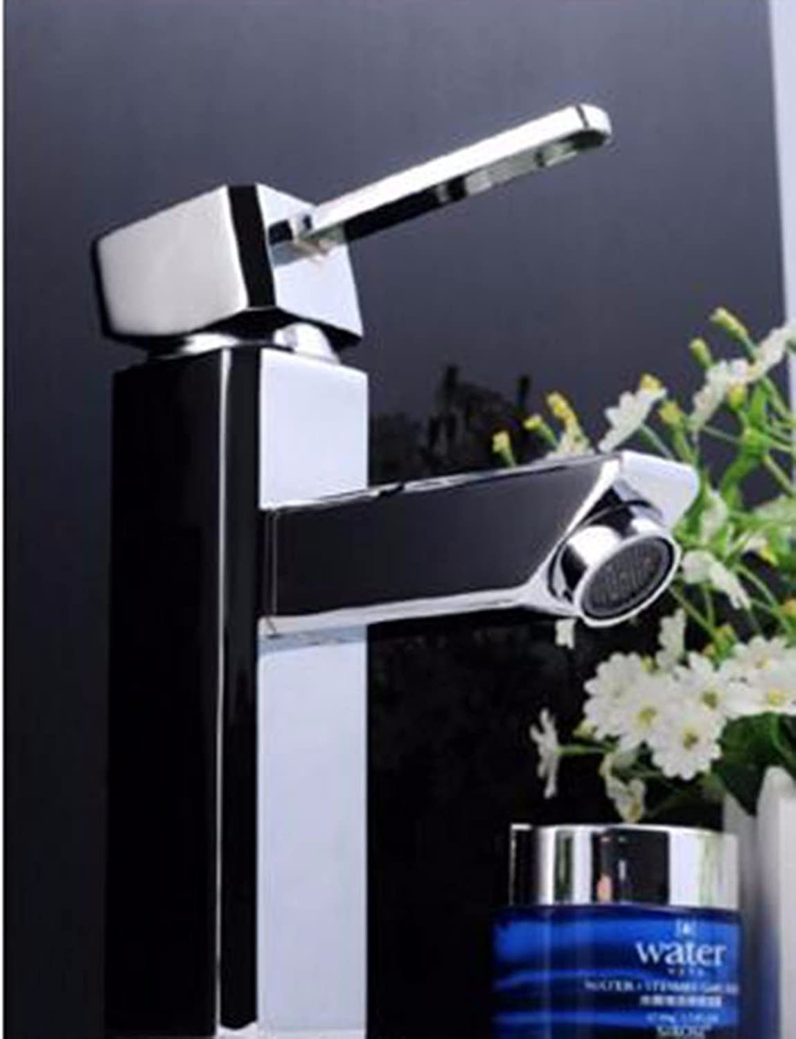 LHbox Basin Mixer Tap Bathroom Sink Faucet The copper basin, bathroom cabinets and cold water faucet, lowered basin basin sink single hole Faucet