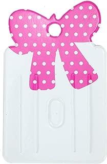 Monrocco 100pcs Cute Bowknot Carboard Hair Clip Hair Bows Display Cards