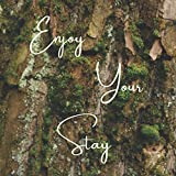 Real Estate Investing Books! - Enjoy Your Stay: Guest Book for Vacation Home, Beach House, Airbnb, Short Term Holiday Rental, Cabin Cottage Mossy Bark Forest