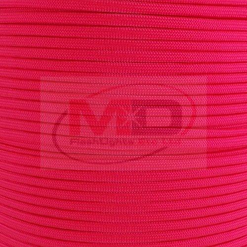 MD FlashLights Etc Ltd 100 m de Saumon Authentique fabriqué aux États-Unis 7 Rangs de Type LLL 550 Paracord 100% Nylon