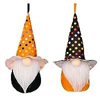 Deals on 2-Pcs Vinmen Halloween Gnomes Plush Decorations, Elf Boo Doll