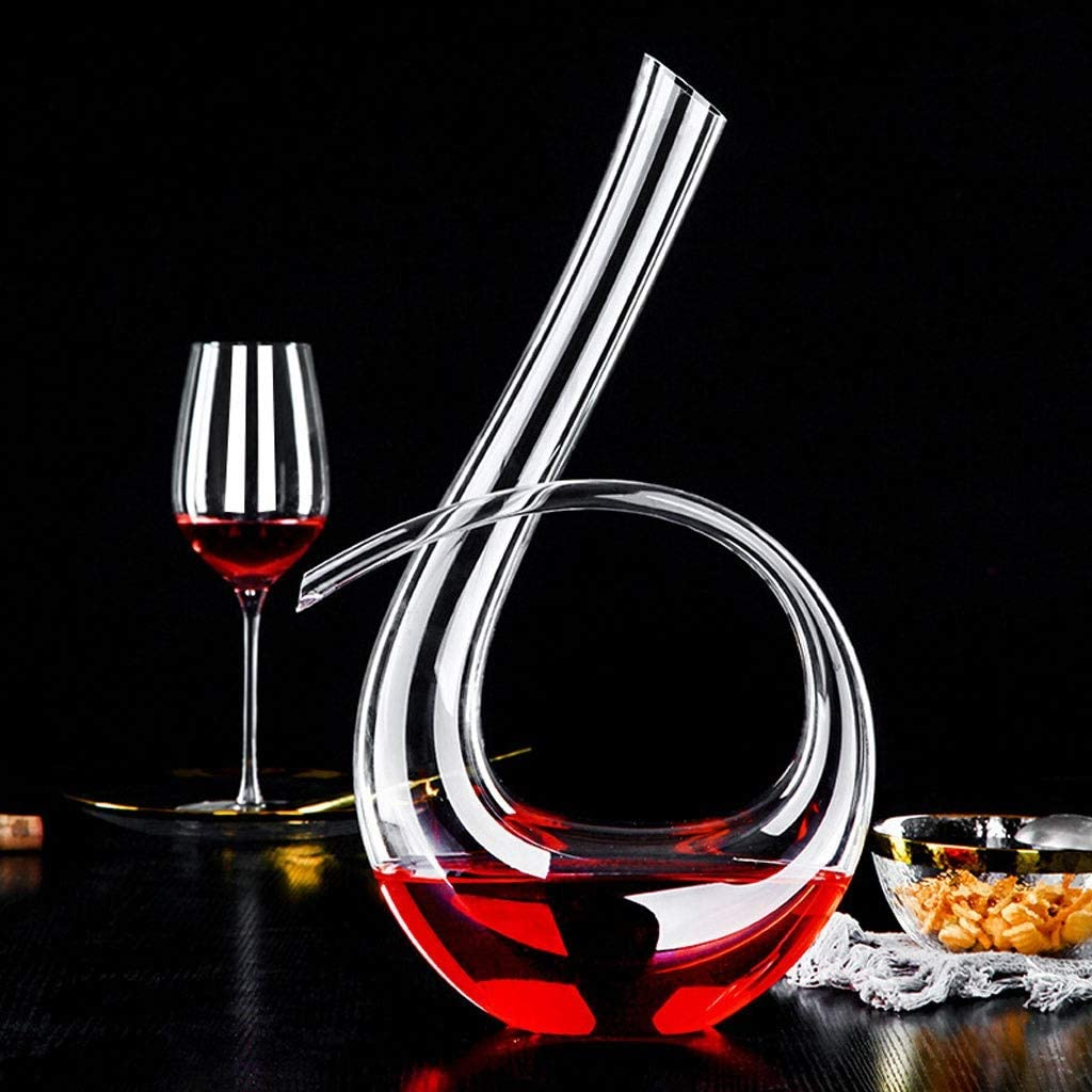 Jiu 1240ml Cheap bargain Crystal Wine Decanter Style lowest price Character Quick Six