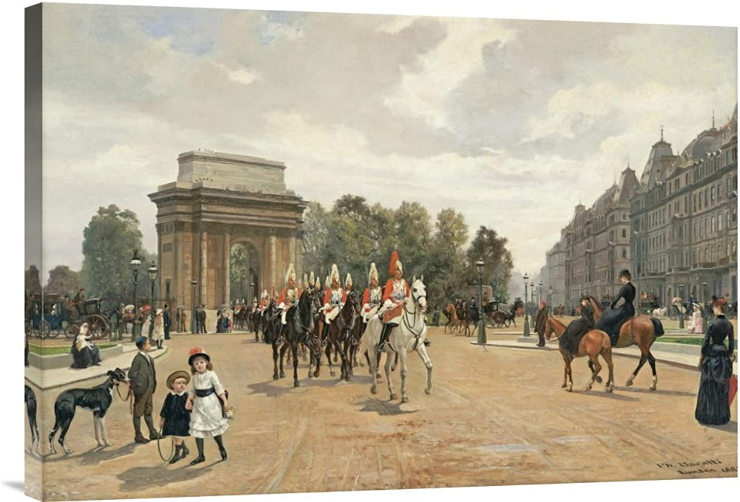 Global Galerie Budget gcs-265895–76,2–360,7 cm Felippo Meer Meer Meer Die Life Guards Passing Hyde Park Ecke London Galerie Wrap Giclée-Kunstdruck auf Leinwand Art Wand B01K1QK7XW | Verrückte Preis
