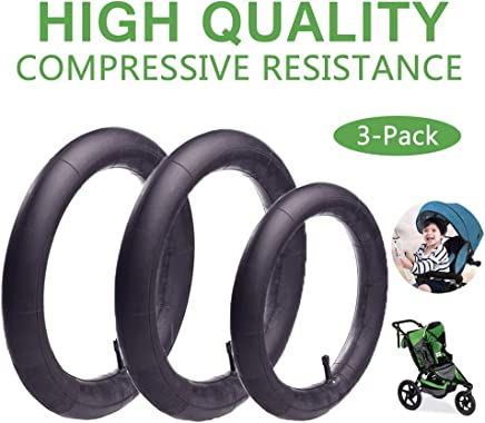 16'' x 1.75/2.15 Back and 12.5'' x 1.75/2.15 Front Wheel Replacement Inner Tubes for BoB Stroller Tire Tube Revolution SE/Pro/Flex/SU/Ironman - Made from BPA/Latex Free Premium Quality Butyl Rubber (3