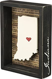 """Best Primitives by Kathy 27804 Box Sign, 6"""" x 8"""", Indiana Review"""