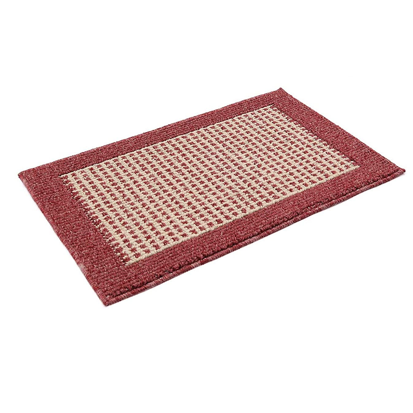 28X18 Inch Anti Fatigue Washable Kitchen Rug Mats are Made of Polypropylene Square Rug Cushion Which is Anti Slippery and Stain Resistance,Red