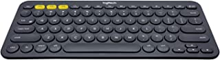 Logitech K380 Wireless Multi-Device Keyboard for Windows, Apple iOS, Apple TV, Android or Chrome, Bluetooth, Compact Space...