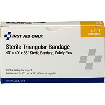 First Aid Only 4-001 40 Sterile Triangular Bandage, Large