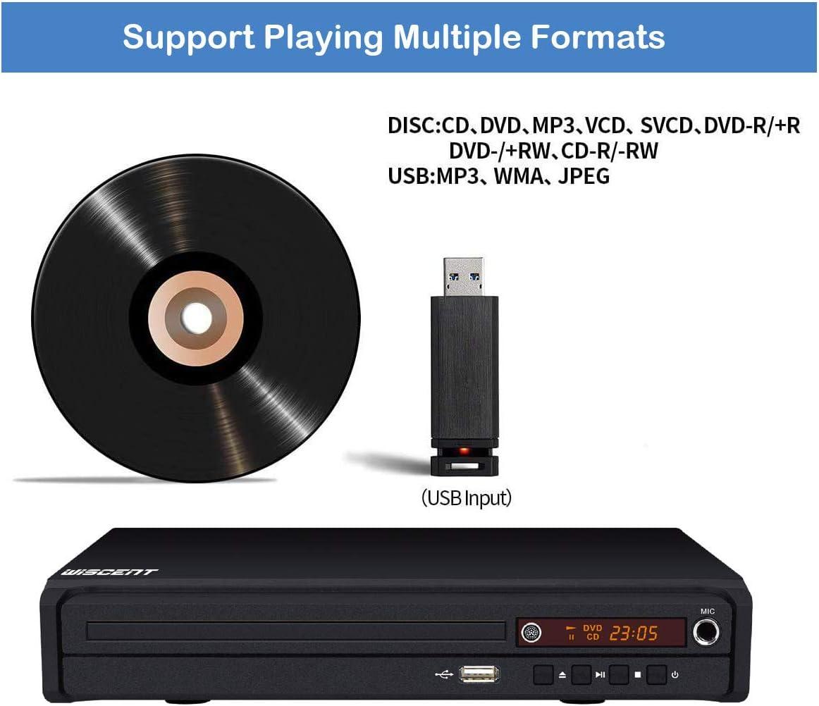 Kompakter DVD-Player für TV, DVD-Player für mehrere Regionen, DivX, MP3, DVD  / CD-Player für Privatanwender mit HDMI / AV / USB / MIC , Region Free DVD  Player: Amazon.de: Elektronik & Foto