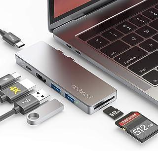 "Hub USB C, dodocool 7 in 1 Adattatore Macbook Pro/Air 16""/13""/15"" con Thunderbolt 3, 4K HDMI, PD 100W, 2 Porte USB-C/USB 3..."