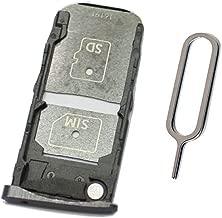 SIM Card Tray &SD Card Holder Slot Replacement for Moto Z Droid Verizon XT1650-01 XT1650-03 (Black Single sim)