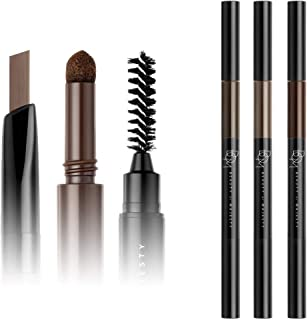 [ BOM ] 3 in 1 TRIPLE EDGE EYEBROW, Autotype Waterproof Eyebrow Pencil (03. CHOCO BROWN) Pencil, Smudge Cushion, Screw Bru...