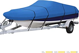 Seamander Heavy Duty Trailerable Runabout Boat Cover 600D Polyester Waterproof