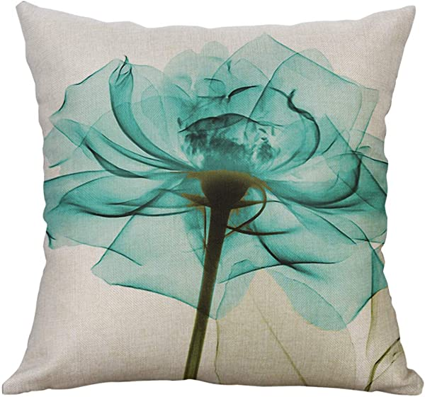LOKODO Cotton Linen Square Home Decorative Throw Pillow Case Sofa Waist Cushion Cover