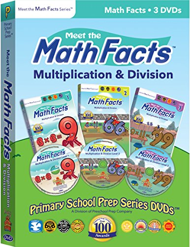 Meet the Math Facts Multiplication & Division - 3 DVD Boxed Set