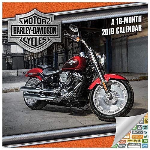 Harley Davidson Calendar 2019 Set - Deluxe 2019 Harley Davidson Wall Calendar with Over 100 Calendar Stickers (Harley Davidson Gifts, Office Supplies)