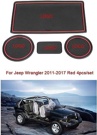 Dergtgh 19pcs Remplacement pour Wrangler JL 2018 Porte Groove Mat Anti-Slip Pad Coupe D/écoration Accessoires