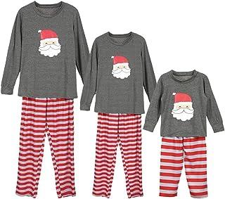 LONMEI Matching Family Christmas Pajamas - Sleepwear Cotton Long Sleeve Santa Claus Sleepsuits Xmas Pjs Set for Men Women ...