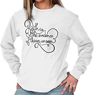 Brisco Brands Faith Evidence Things Unseen Christian Long Sleeve T Shirt
