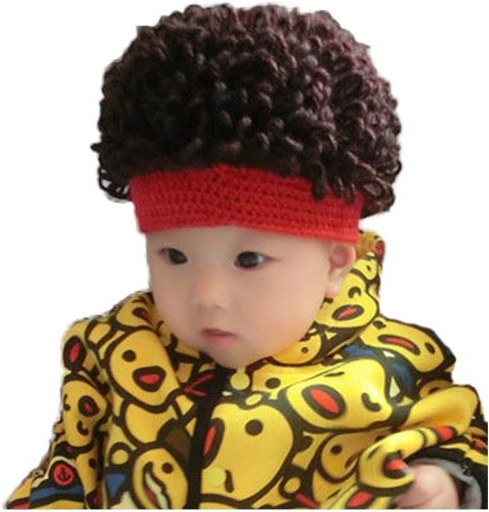 WeeH Kids Wig Hats Halloween Costume Cosplay Winter Kinnted Hat for Boy Girl