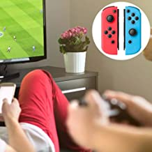 for Nintendo Switch Accessories for Joy-CON Gamepad NS Wireless Sensor Handle Bluetooth Grip- for Joy-CON Controller Left Right NS Switch Compatible with Switch Replacement - Neon Red/Neon Blue