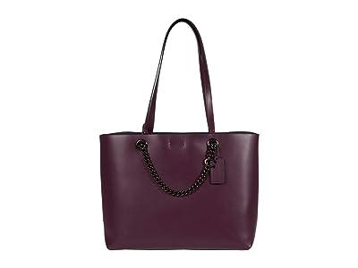 COACH Signature Chain Convertible Tote (V5/Boysenberry) Handbags