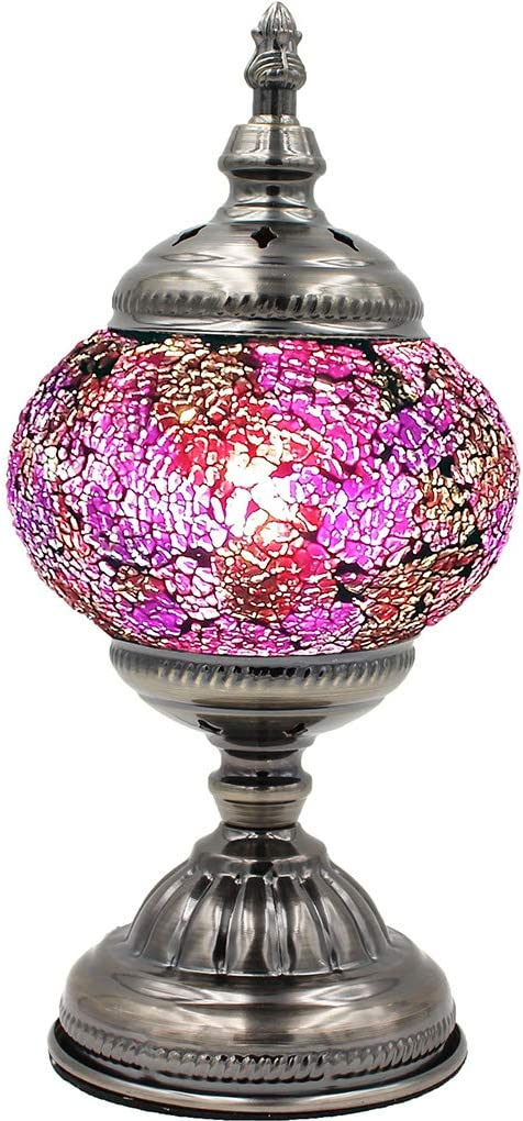 Max 71% Cheap mail order specialty store OFF Silver Fever Handcrafted Mosaic Turkish Lamp Tabl Moroccan Glass
