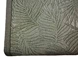 NORA HOME Piqué Tagesdecke Palmblätter aus Jacquard, alle Maße grün, 200 x 260 cm (Bett mit 105/110 cm)
