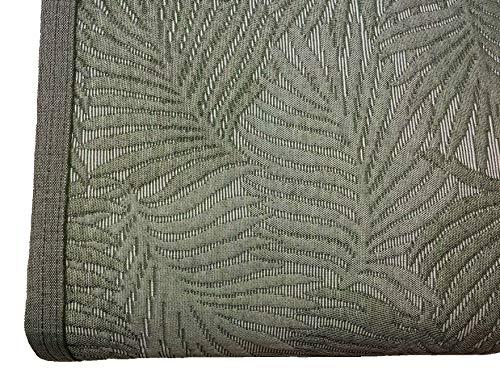 NORA HOME Colcha Piqué Palm Hojas de Jacquard. Todas Las Medidas Verde, 270x260 cm (Cama 180)