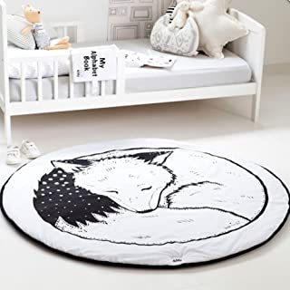 Sheuiossry Baby Kids Play Mat Leaf Shape Carpet Newborn Crawling Blanket Cotton Floor Rug Kids Room Decoration for Living Room Bedroom Sofa Floor