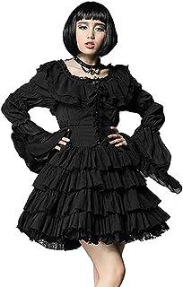 cb13c614bd5 Robe Noir sans Manches avec Volants Gothique Lolita Punk Rave lq-063