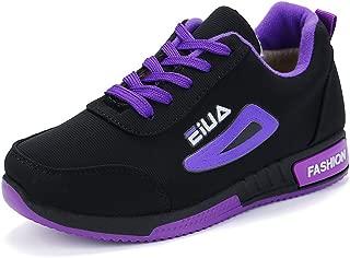 OUYAWEI Women Velvet Warm Round Toe Flat Casual Shoes Non-Slip Sports Running Shoes Outdoors Sports