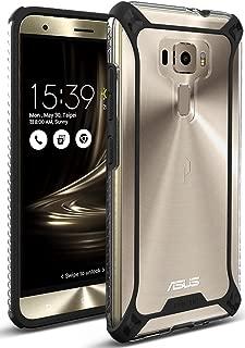 Asus Zenfone 3 Case, POETIC Affinity Series Premium Thin/No Bulk/Clear/Dual Material Protective Bumper Case for Asus Zenfone 3 (2016) Black/Clear